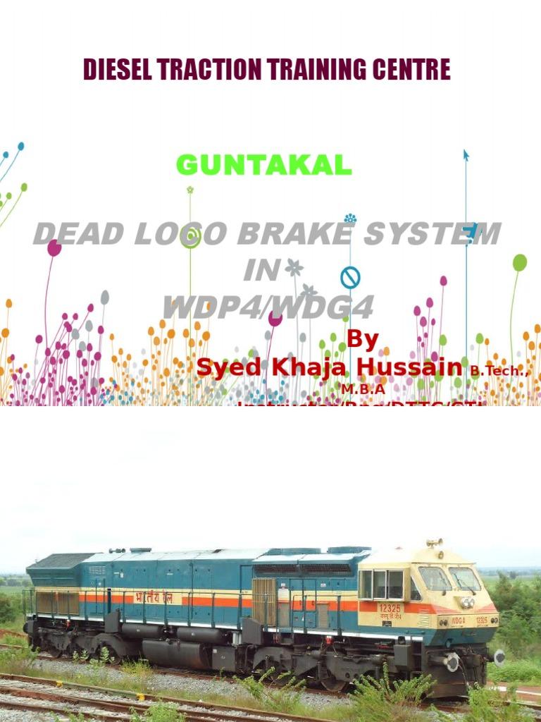 air brake circuit of wdg4 p4 dead loco pptx rh scribd com