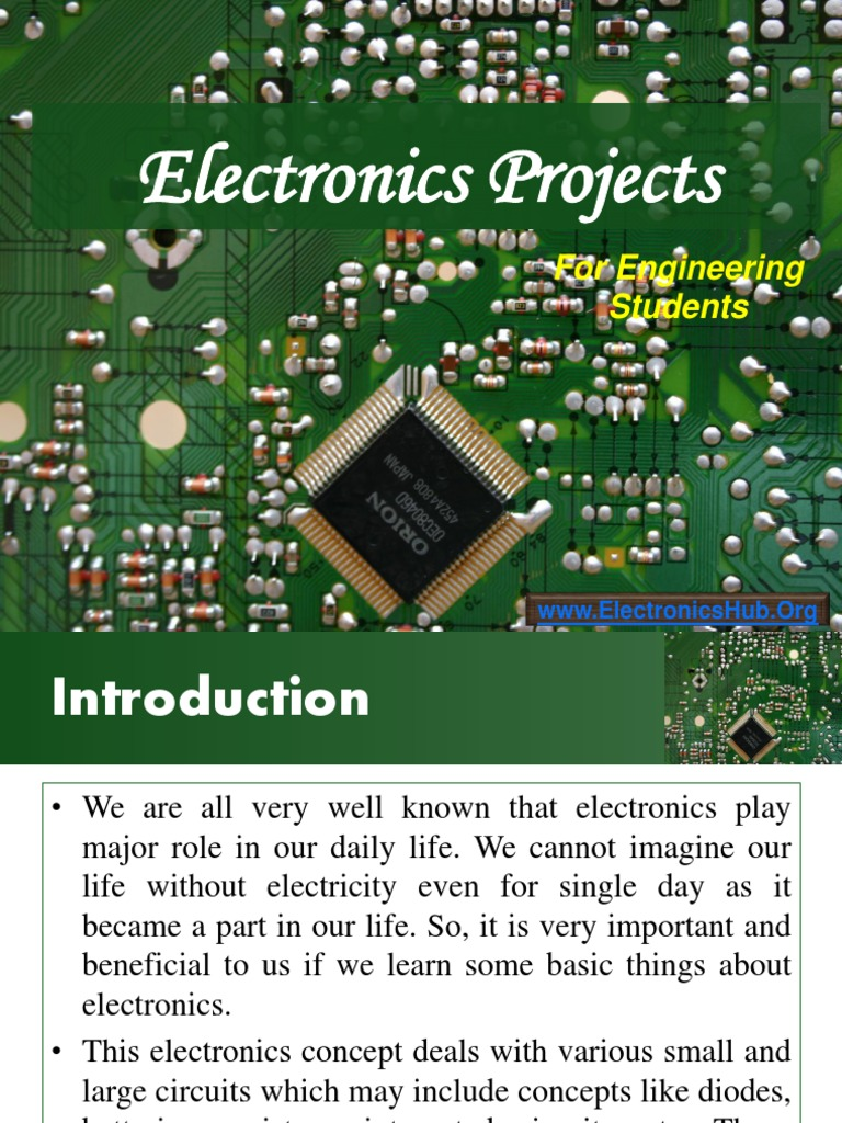 Projects on Electronics for ECE and EEE Students | Security Alarm ...