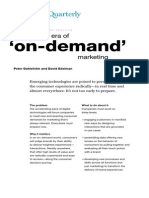 The comingThe coming era of on-demand marketing era of on-demand marketing