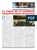 La farsa de la asamblea constitucional de estatus