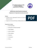 Laboratorio nº1 - Preparacion de muestras de minerales