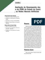 Previsão de ICMS utilizando Redes Neurais