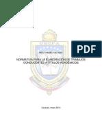 Normativa de La UNEFA Sobre Los Proyectos y TEG
