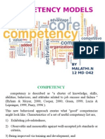 COMPETENCY MAPPING MODELS