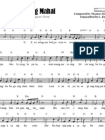 U.P. Naming Mahal - Sheet Music (Unofficial - Cheat Sheet Transcription)
