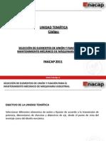 Unidad 3 SELECCIÓN DE ELEMENTOS DE UNIÓN Y FIJACIÓN PARA