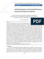 Effects of Financial Risk Management on the Financial Performance of Kenya Power