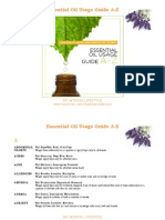 dōTERRA Essential Oil Usage Guide A-Z