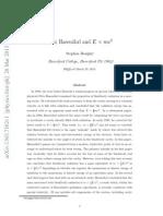 Fritz Hasen¨ohrl and E = mc2