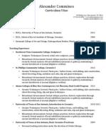 comminos curriculum vitae 2013