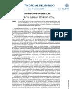 Orden ESS/1897/2013, de 10 de octubre, por la que se desarrolla el Real Decreto 34/2008, de 18 de enero, por el que se regulan los certificados de profesionalidad y los reales decretos por los que se establecen certificados de profesionalidad dictados en su aplicación.