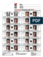 UFC 101 Fight Card for MMA Betting