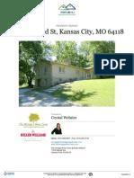 Residential Property Report for 1001 NE 83rd Street Kansas City, Missouri 64118