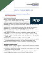 Bibliografia Geral 2013 Mestrado e Doutorado