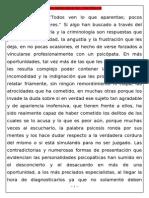 LAS MÁSCARAS DEL PSICÓPATA