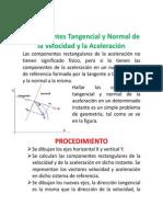 Componentes Tangencial y Normal de la Velocidad y la Aceleración
