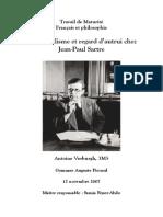 L'Existentialisme Et Regard d'Autrui Chez Jean-Paul Sartre