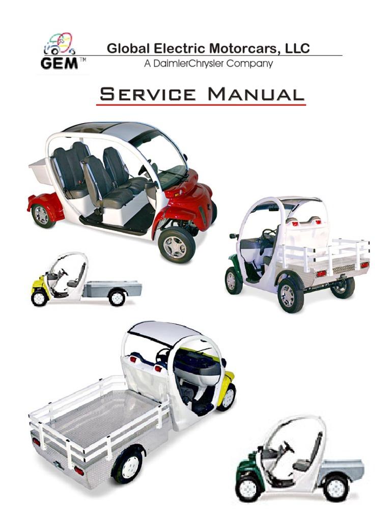 Gem Car Repair And Maintenance Service Manual Pdf Battery Charger
