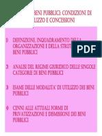 Regime dei beni pubblici. Condizioni di utilizzo e concessioni.pdf