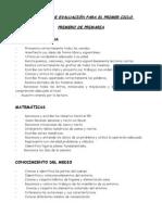 criterios de evaluacion.1º CICLO