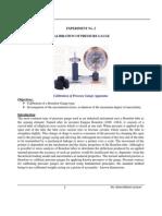 Experiment 2 - Calibration of Pressure Gauge2
