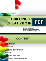 BUILDING THE CREATIVITY IN YOU.ppt