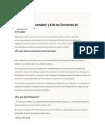 Protocolos Adicionales I y II de Los Convenios de Ginebra
