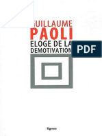 Eloge de la démotivation - Guillaume Paoli
