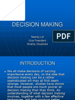 DECISION MAKING IN MANAGEMENT