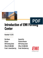 Introduction of EWI Forming Center Nov 2012