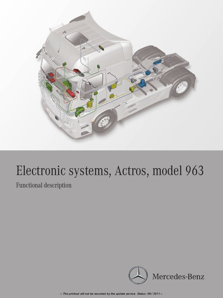 Actros electronic systems Model 963 pdf | Hvac | Electrical