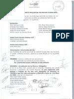Acta de Mayo del Comité provincial de Ciudad Real