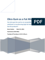 okra gum as a fat mimetic