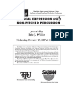 Musical Expression With Non-Pitched Percussion