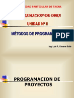 Unidad II Metodos de Programacion Barras Gantt PER_CPM