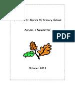Autumn term 1 2013 newsletter