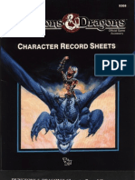 DDREF1 Character Record Sheets
