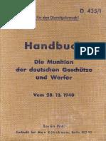 D 435-1 - Handbuch - Die Munition der deutschen Geschütze und Werfer (28.12.1940)