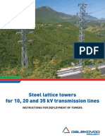 Steel Lattice Towers for 10 20 and 35 Kv