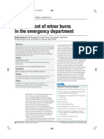 Management of Minor Burns in the Emergency Department.