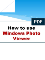 How to use Windows Photo Viewer