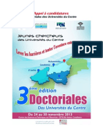Appel Candidature Duc 2013