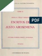 Tello Burgos, Escritos de Justo Arosemena