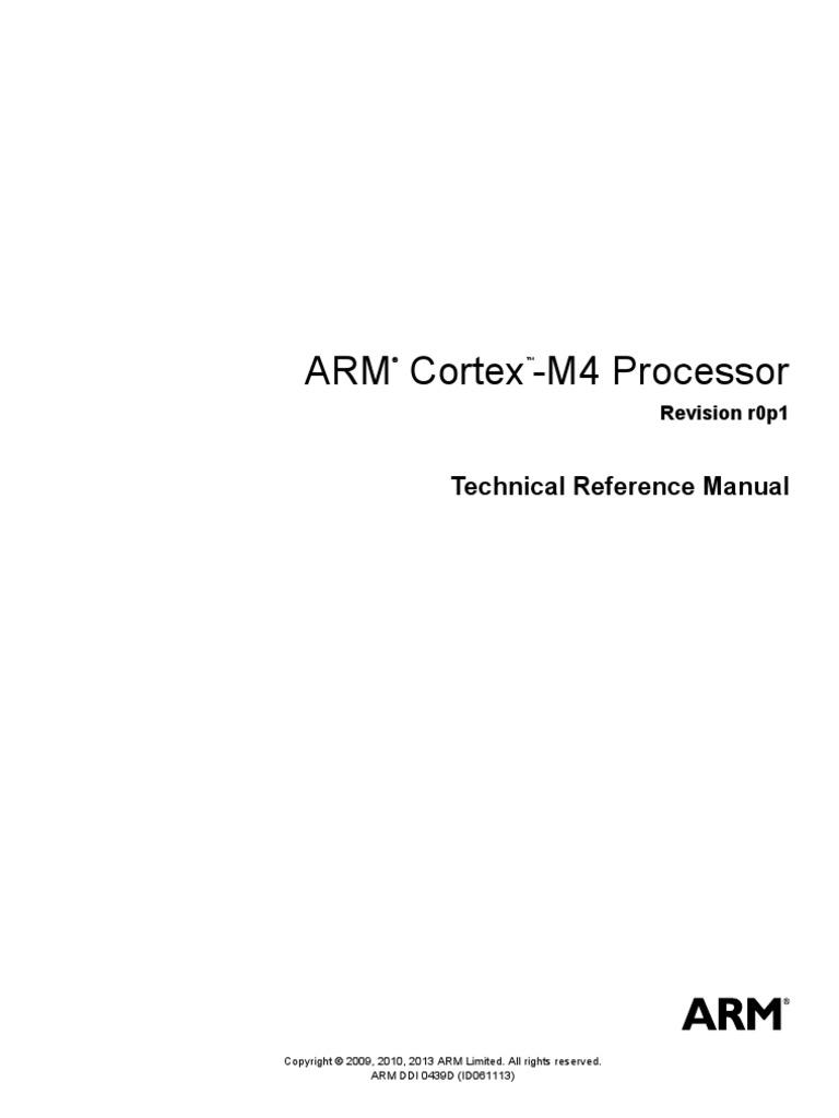 cortex m4 reference manual arm architecture instruction set rh scribd com Arm Opcode Table Dap Arm