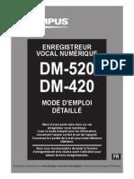 Olympus DM-520 DM-420 Mode d'Emploi Detaille FR