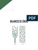 BALANCEO DE LÍNEAS