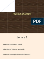 Packing of atoms