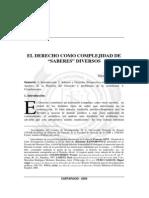 El Derecho como complejidad de saberes diversos.pdf