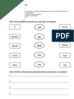 Evaluación  de escritura CQK