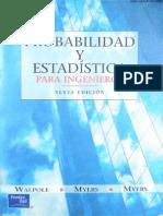 Probabilidad y Estadistica Para Ingenieros - 6ta Edicion - Ronald E. Walpole & Raymond H. Myers